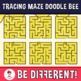 Tracing Maze Clipart Doodle Bee (Guided Set)