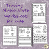 Music Symbols   Tracing Music Worksheets for Kids