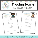 Tracing Name Practice Sheets