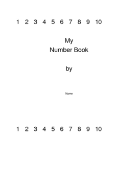 Tracing Number Book (K.CC)