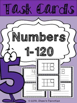 Tracing Number's Task Cards {0-120} 2 Sets