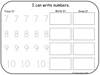 Tracing Numbers 0-10
