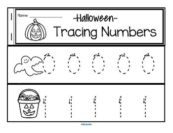 Tracing Numbers 0-20 for Beginning Writers - Halloween Theme