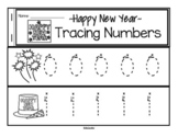 Tracing Numbers 0-20 for Beginning Writers - New Year Theme