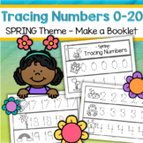 Tracing Numbers 0-20 for Beginning Writers - Spring Theme