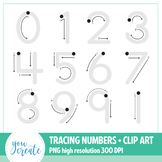 Tracing Numbers 0 - 9 Clip Art | Number Formation