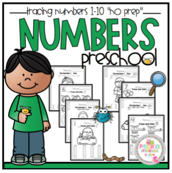 """Tracing Numbers 1-10 """"No Prep"""" 2 sets"""