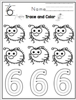 """Tracing Numbers 1-10 """"No Prep"""" 2 sets for each theme"""