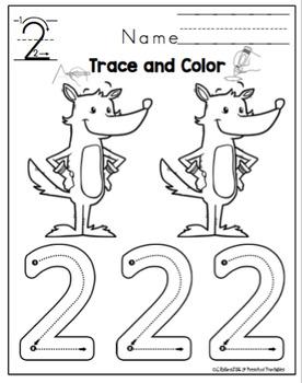 "Tracing Numbers 1-10 Read Across America ""No Prep"""