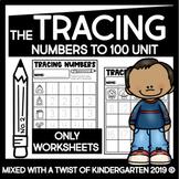 Tracing Numbers   1-100   Kindergarten