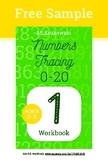 Tracing Numbers 1-20 Writing Workbook Free Sample