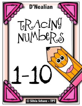 Tracing Numbers 1 to 10 - D'Nealian