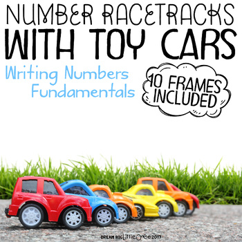 Tracing Numbers - Race Track with Parking 10 Frame by Dream Big ...