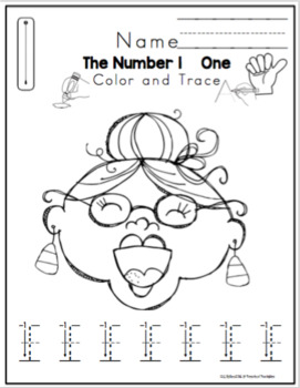 """Tracing Numbers Sets for """"Old Lady Who Swallowed a Bat"""" No Prep"""