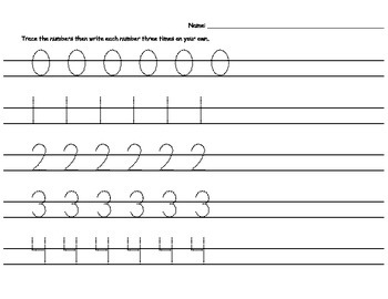 Tracing Numbers and Letters Worksheet