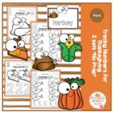 "Tracing Numbers for Thanksgiving - 2 Sets - ""No Prep"""