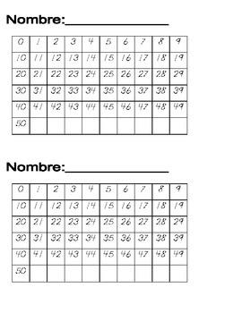 Tracing Numbers in Kindergarten