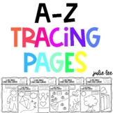 Tracing Pages A-Z Fine Motor Activities Pre-Writing Activi