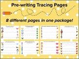 Tracing Pages Bundles, Preschool Writing, Kindergarten Writing, Fine Motor