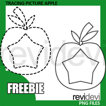Tracing Picture Clip Art: A is for Apple clipart