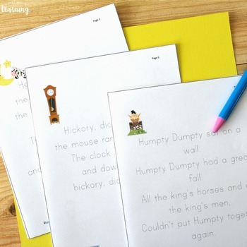 Tracing Practice Activities: Rhyme & Write! Nursery Rhyme Tracing Printables