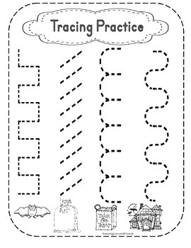 Tracing Practice Holiday Sheets (ages 3 to 4)