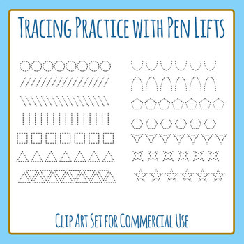 Tracing Practice Rows with Pen Lift for Pencil Control Cli