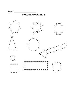 Tracing Practice for Shapes