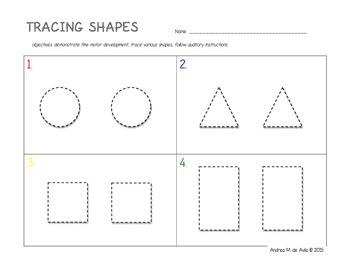 Pre-K Tracing Shapes Worksheet