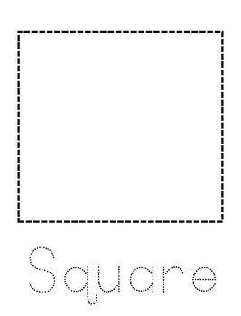 Tracing Shapes - Daycare & Homeschool Resource