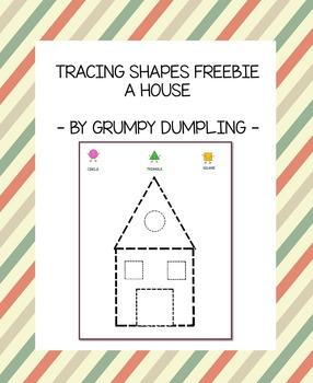 Tracing Shapes Freebie - A House {FREEBIE}