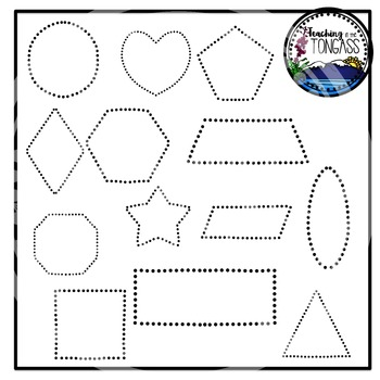 Tracing and Pinning Shapes Clipart