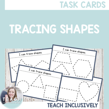 Tracing Shapes Task Cards