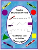 Tracing Shapes and Color Activities, P-K, K, Early Childhood, Special Ed