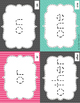 Tracing Sight Word Cards 1st 100 Instant Sight Words for Centers
