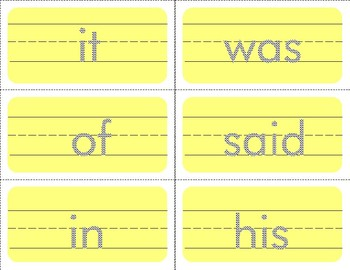 Tracing Sight Word Flash Cards Set - Dry Erase