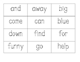 Tracing Sight Word Flashcards