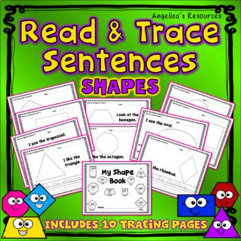 Math Tracing: Sight Words, Sentences, and Shapes - Handwriting
