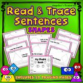 Naming Shapes: Handwriting Worksheets - Sight Word Worksheets - Tracing