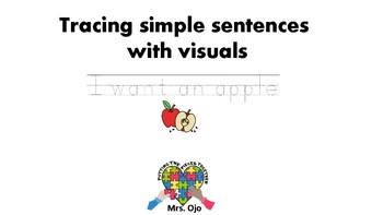 Tracing Simple Sentences with visuals