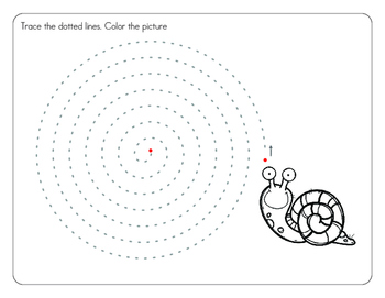 Tracing Spiral Lines  Workbook