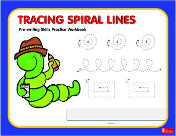 Tracing Spiral Lines  Workbook
