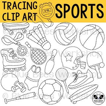 Tracing Sports Clip Art