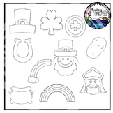 Tracing and Pinning St. Patrick's Day Clipart