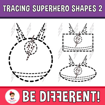 Tracing Superhero Shapes 2 Clipart