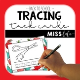 Back to School Tracing Task Cards
