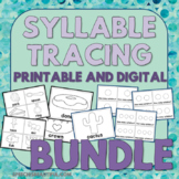 Tracing Task Cards: One, Two, & Three Syllable Words for U