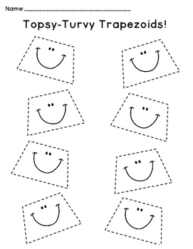 FREEBIE!! Tracing Topsy-Turvy Trapezoids