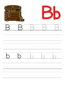 Tracing Upper and Lowercase Letters - Pirate Edition