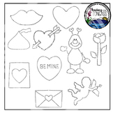 Tracing and Pinning Valentine Clipart